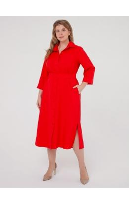 Платье-рубашка Прайм (красный)