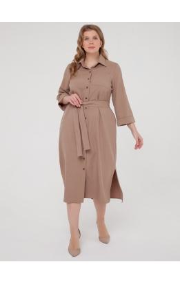 Платье-рубашка Прайм (капучино)