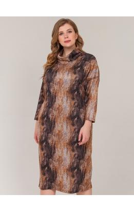 платье Лучано (оранж/принт)