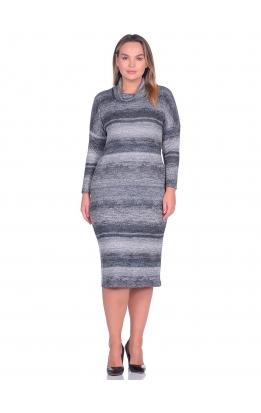 платье Лучано (полоска/серый)