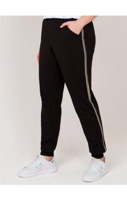 брюки Спорт (черный/золотая полоса)