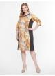 платье Линда2 (серый/оранж)