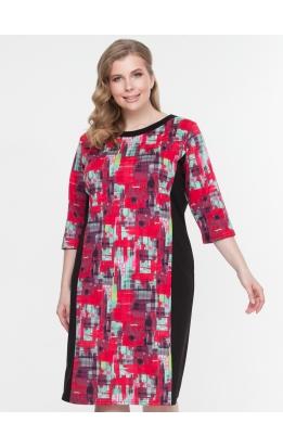 платье Линда2 (черный/красный)