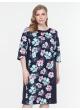платье Линда2 (темно-синий/цветы)