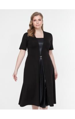 платье ЧелсиКожа (черный)