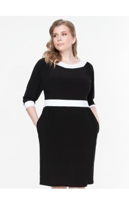 платье БлескМасло (черный/белый)
