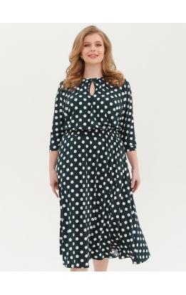 платье Софи2 (зел/крупн/горох)