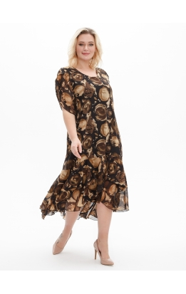 платье Шифон (коричневый)