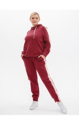 спортивный костюм Квинс (бордовый/персик)