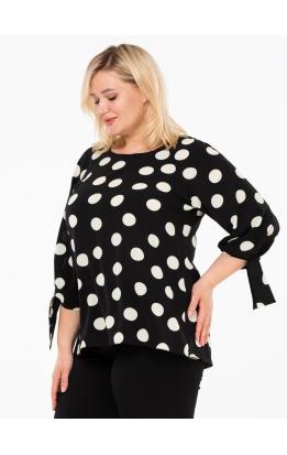 блуза Дороти (черный/горох)