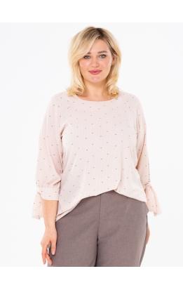 блуза Дороти (персиковый/точки)