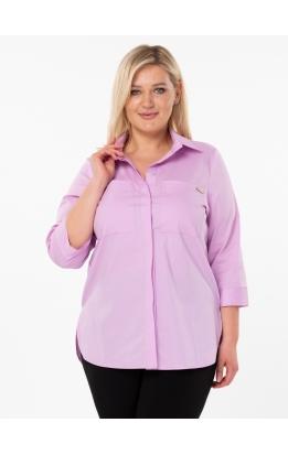 рубашка Белая (розовая)