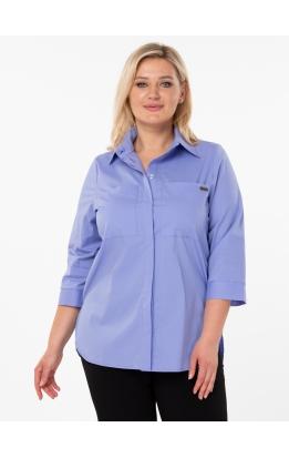рубашка Белая (сиреневая)