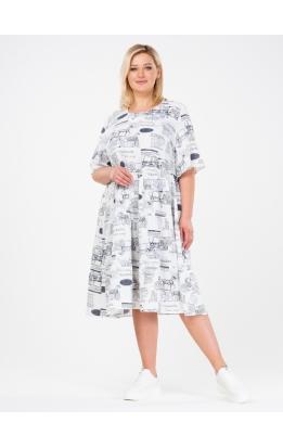 платье Люси (белый/буквы)