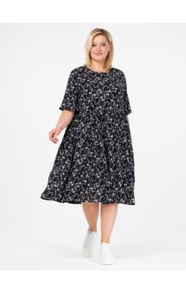 платье Люси (черный/цветы)