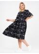 платье Люси (черный/буквы)