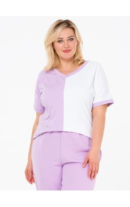 футболка Двухцветная (сирень/белый)