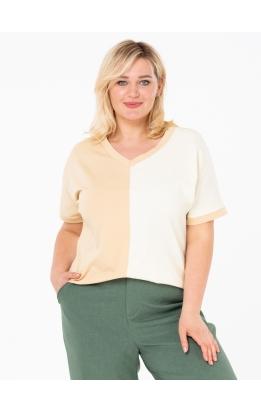 футболка Двухцветная (песочный/молочный)