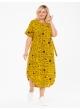 платье ПринтВирса (желтый/буквы)