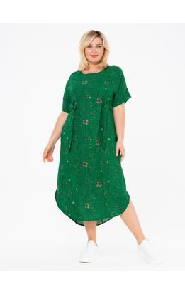 платье ПринтВирса (зеленый/буквы)