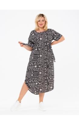 платье ПринтВирса (черный/буквы)