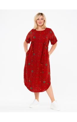 платье ПринтВирса (красный/буквы)