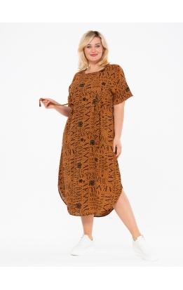 платье ПринтВирса (бежевый/буквы)