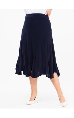 юбка МидиРаш (темно-синий)
