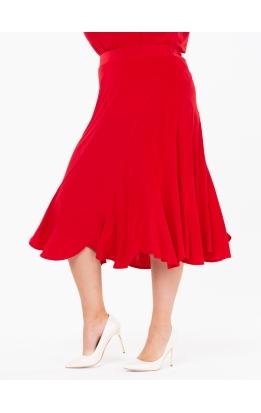 юбка МидиРаш (красный)