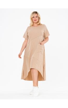 платье Кипр2 (бежевый/полоска_1)