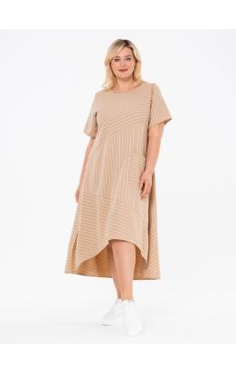 платье Кипр2 (бежевый/полооска_2)