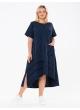 платье Кипр2 (т-синий/полоска)