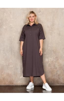 платье Альба (коричневый)
