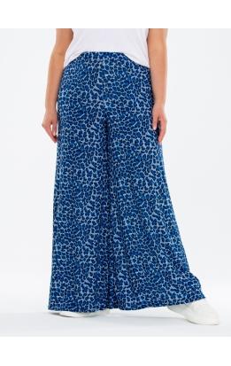 брюки ЛетоКлеш (леопард голубой)