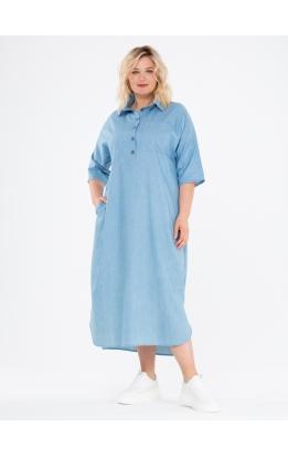 платье Альба Джинс (голубой джинс)