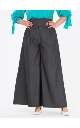 брюки Палаццо Джинс (черный)