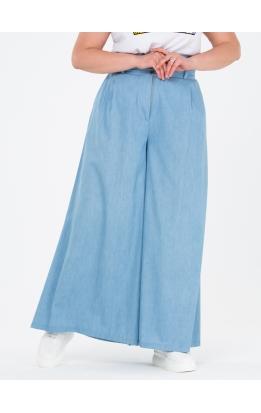 брюки Палаццо Джинс (голубой джинс)