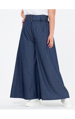 брюки Палаццо Джинс (темно-синий)