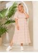 платье Лара (молочный/роз цвет)