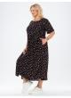 платье Сити Лонг (черный/цветы)