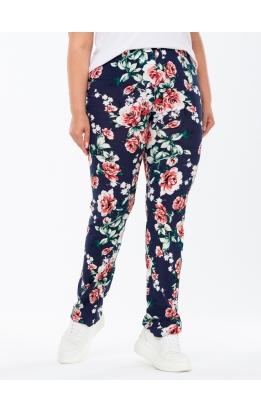 брюки Приза (темно-синий/розы)