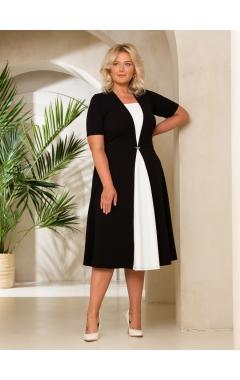 платье СкубаЧелси (черный/молочный)