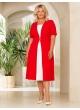 платье СкубаЧелси (Красный/молочный)