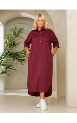 платье Альба Лайт (бордо)