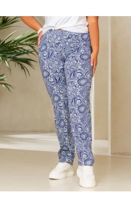 брюки Нори (синий/белый)