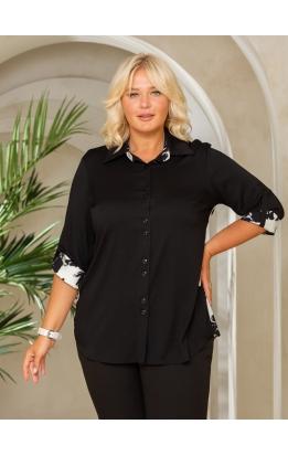 рубашка Наташа (черный/белый принт)