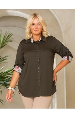 рубашка Наташа (хаки/принт)