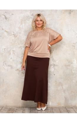 юбка Макси Милан (коричневый)
