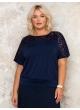 блуза Кружево2 (темно-синий)
