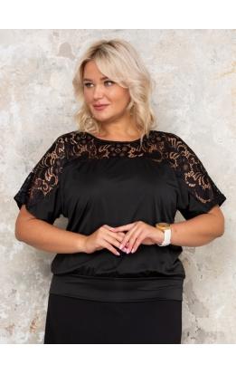 блуза Кружево2 (черный)